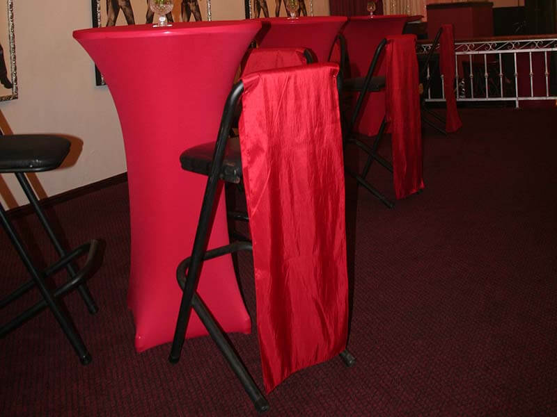 Touareg Tent accessories barstool Cocktail table Red lycra cover